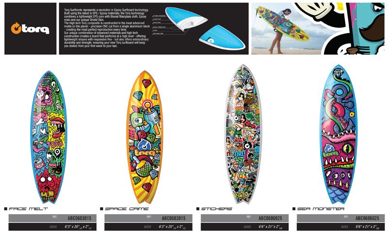 TORQ SURFBOARDS COLOR DESIGN