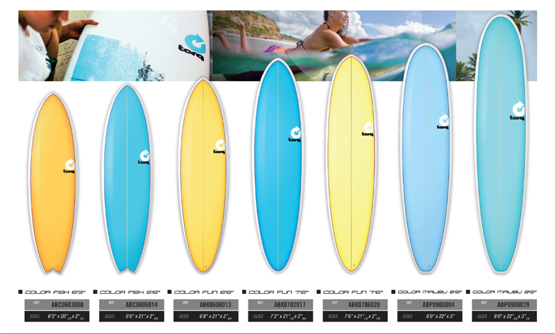 TORQ SURFBOARDS COLOR