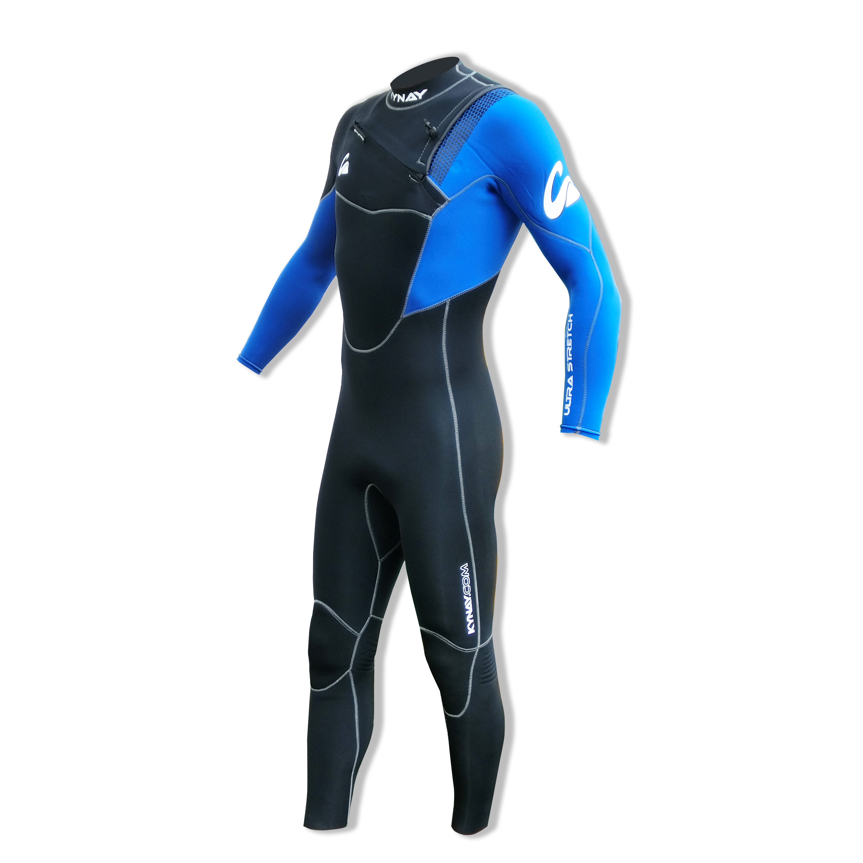 NEOPRENO INTEGRAL KYNAY 5/4/3 FRONT ZIP BLUE BLACK