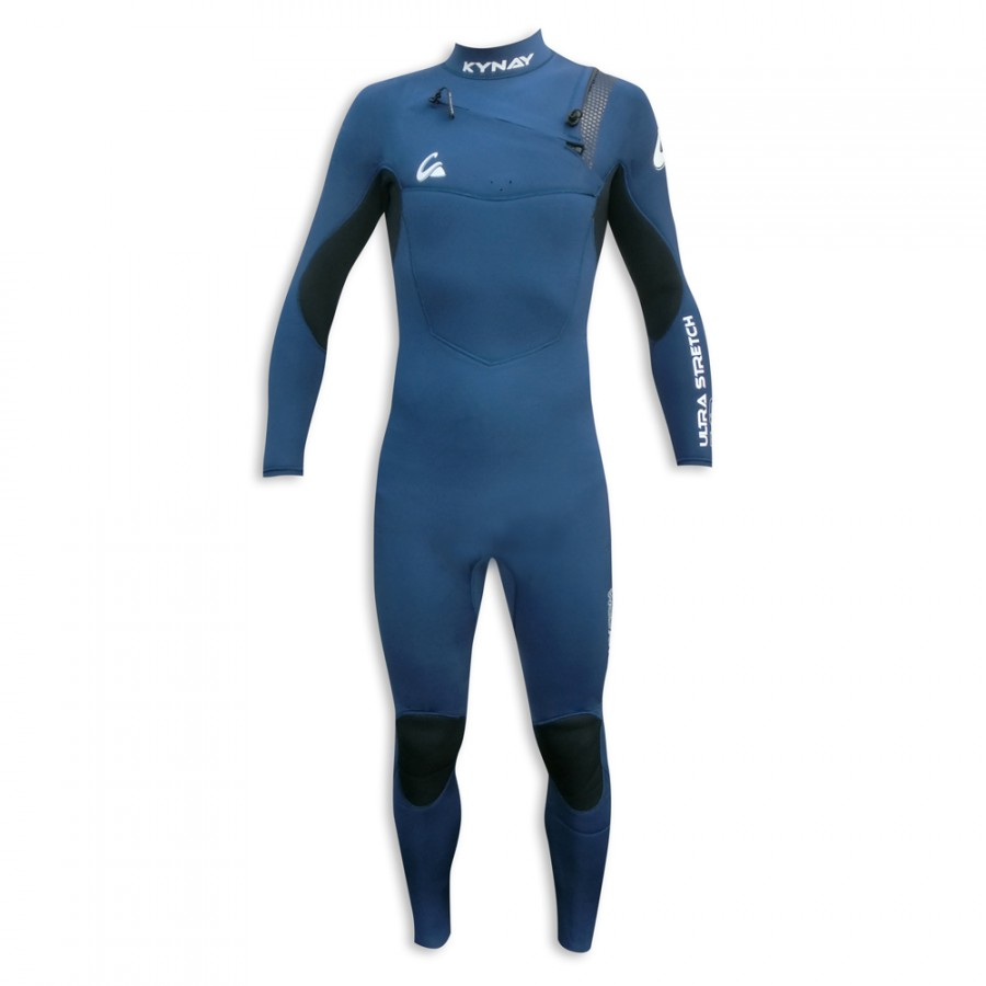 TRAJE DE SURF NEOPRENO INTEGRAL KYNAY 5/4/3 FRONT ZIP BLUE - OUTLET STAND UP PADDLE - SUP