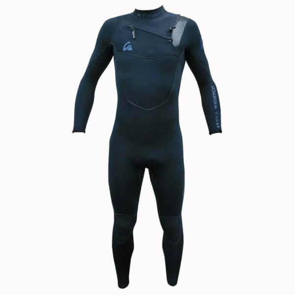 TRAJE DE SURF NEOPRENO INTEGRAL KYNAY 5/4/3 FRONT ZIP azul - Neoprenos para surf