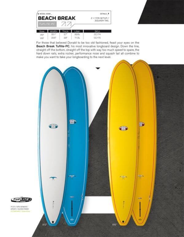 TABLA DE SURF TAKAYAMA BEACH BREAK TUFLITE PC LONGBOARD - Tablas de Surf