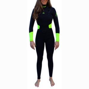 TRAJE DE SURF NEOPRENO INTEGRAL FRONT ZIP KYNAY 5/4/3 QUICK DRY MUJER