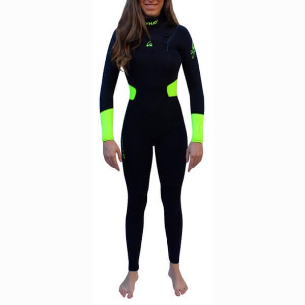 TRAJE DE SURF NEOPRENO INTEGRAL FRONT ZIP KYNAY 5/4/3 QUICK DRY MUJER - Neoprenos para bodyboard